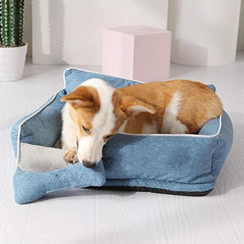 Cuccia per cani in cotone caldo sonno letto per cuccioli lavabile Staccabile tessuto Oxford Cuccia per gatti Nido di gatto impermeabile piccolo gatto e cane nido S
