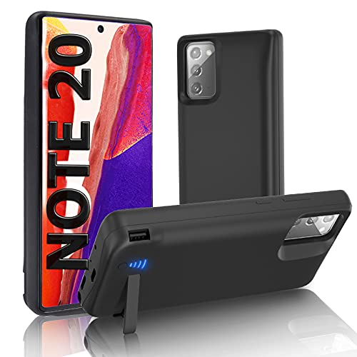 """SlaBao Galaxy Note 20 Battery Case, Kickstand & Dual Device Charging & Priority Charging Case, 6000mAh Portable Backup Charger Case for 6.7"""" Samsung Note 20 5g - Black"""