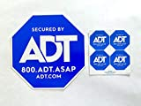ADT Yard Sign Plus 4 Security Doors and Windows Decals, Outdoor Surveillance Alarm Deterrent