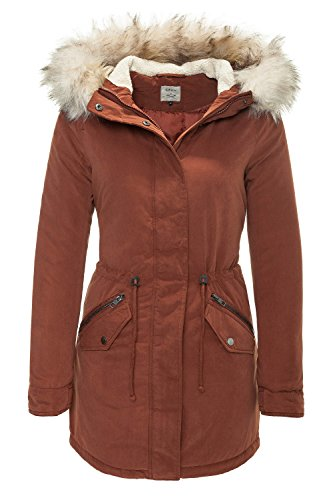 ONLY Damen onlLUCCA Long Parka OTW Jacke, Rot (Cherry Mahogany), 36 (Herstellergröße: S)
