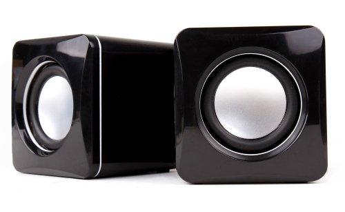 """DURAGADGET Mini Enceintes/Haut-parleurs multimédia par Prise Audio Jack pour tablettes tactiles Auchan QILIVE 9.7 B600121 & 9.7R B600122 (Android 4.1.2, écran 9,7"""")"""