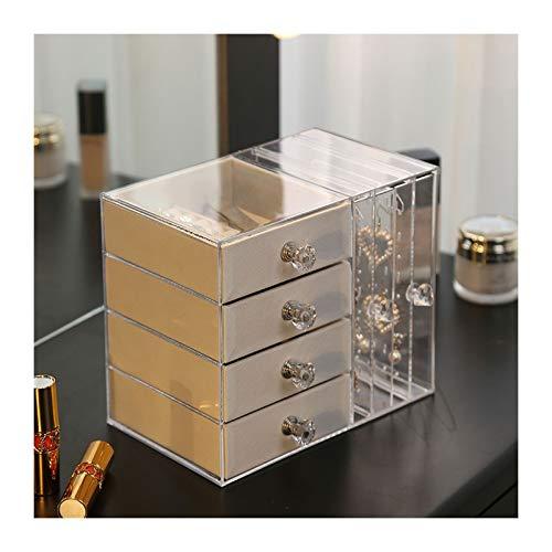 Cajas para Joyas Joyero Caja de joyería de acrílico transparente para mujeres con 4 cajones colgando pendiente de pendiente organizador de joyería para pendiente brazalete pulsera collar Organizador d