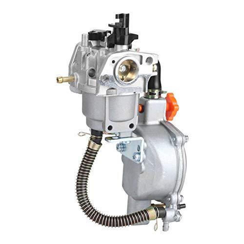 Scooters Carburador Accesorios para Motosierra Bomba Agua Generador Carburador Combustible Dual Bobina Estrangulación Manual Gasolina Adecuada para H&Onda GX160 2KW 168F