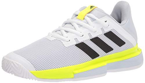 adidas Women's Solematch Bounce White/Black/Solar Yellow 8