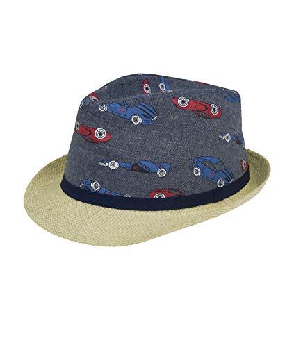 Döll Jungen Strohhut Mütze, Blau (Blue Denim|Blue 0013), (Herstellergröße: 55)