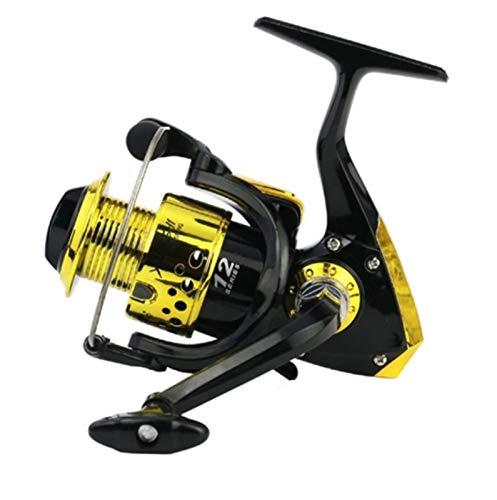 RongWang 1000-7000 Carrete De Pesca De Mano Izquierda/Derecha con Revestimiento De Plástico 12BB Serie Oro Negro (Color : 1000 Series)