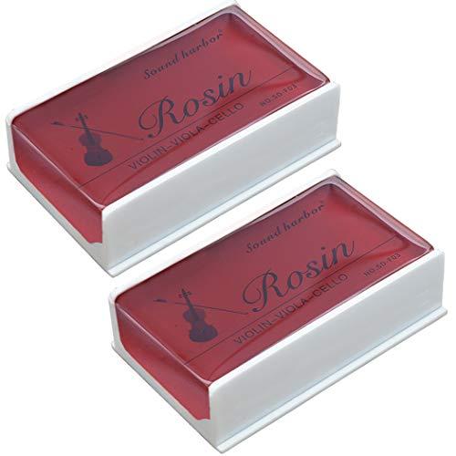 Rosin 2 pack Big size Rosin Natural Rosin for Violin Cello Viola Bows (Red)