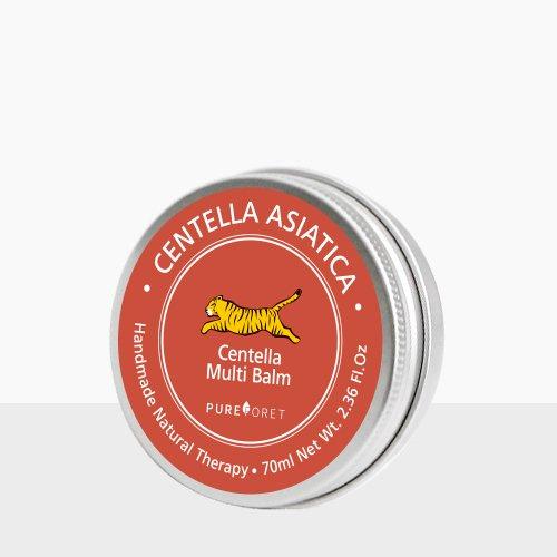 Pureforet Centella Multi Balm Best Natural Acne Treatment Face Moisturizer For Dry Sensitive Skin Tea Tree Oil Cica Maedcca Trouble Care Blemish Cream Balm Face and Body 2.36 Fl oz 70ml