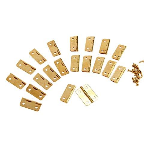 20 unids 24x18mm Cocina gabinete puertas bisagras para atascos accesorios accesorios cajones bisagras para joyeros accesorios accesorios accesorios accesorios accesorios de muebles estuche de pecho jo