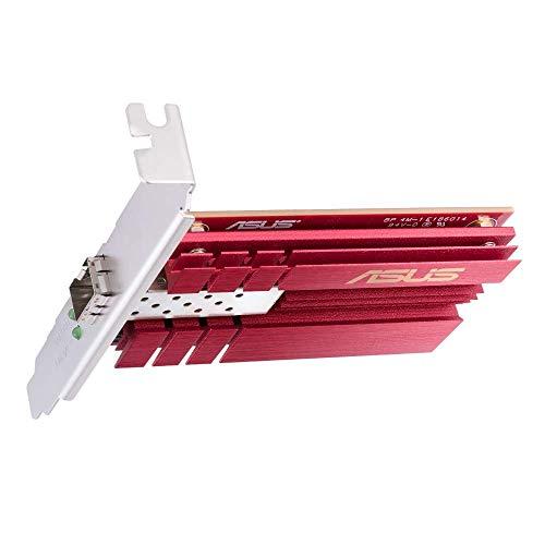 ASUS XG C100F Adaptateur réseau 10 Go PCIe, port SPF pour transmissions par la fibre optique et câble DAC