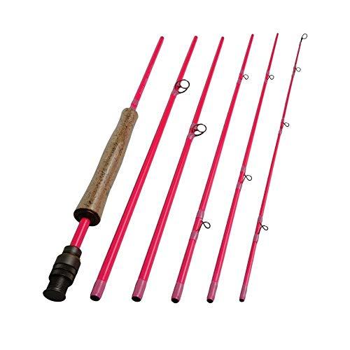 SY-HAISHANGGAN, Canne da pesca a mosca da corsa in fibra di carbonio 100% IM8 24T Canne da pesca leggera ad azione rapida Canna da pesca colore rosa Camo verde ( Color : Green , Size : 8.9ft LW4I5 )