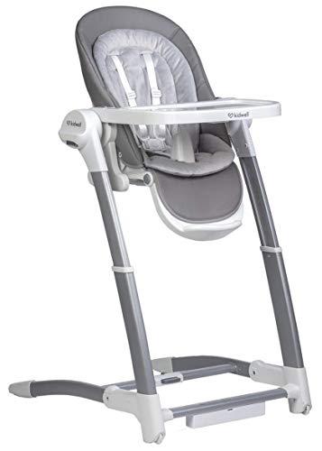 Prachtige 5-in-1 aanbouwstoel voor baby's kan worden gebruikt als ligstoel, hoge stoel, autostoel, stoel of schommel met elektrische aandrijving, Maverick 114 cm grijs/wit