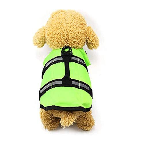 Bdesign Lebensrettende Kleidung for Hunde und Katzen Schwimmen Kleidung for kleine und mittelgroße Hunde Corgi Bichon Teddy Sicherheitsbekleidung (Size : L)