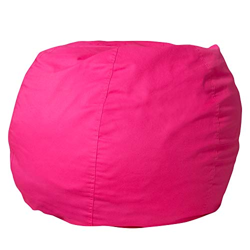 Flash Furniture Small Solid Hot Pink Bean Bag Chair for Kids and Teens