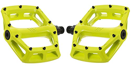 Dmr V8 V2 MTB Pedals - Lemon/Lime/Flat Mountain Biking Bike Bicycle Cycling Cycle Riding Ride Wide Platform Sticky Grip Pin Downhill Freeride Trail Dirt Jump Pedal Lightweight Accessories