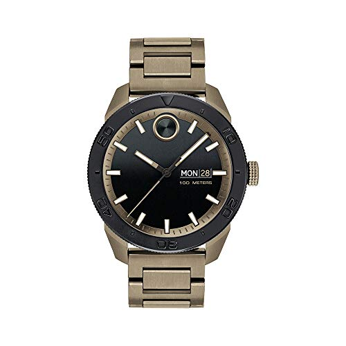 Movado Men's BOLD Sport Khaki PVD Watch with a Printed Index Dial, Brown/Black (Model 3600511)