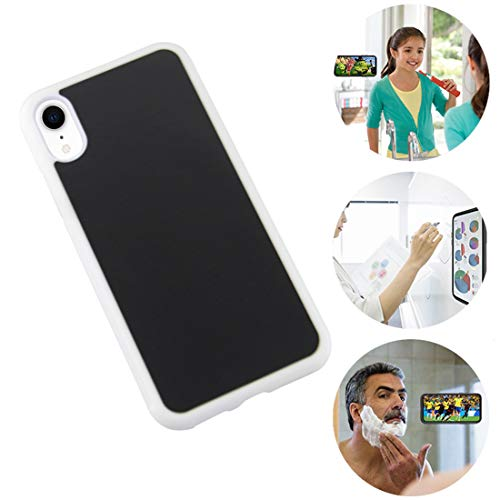 Omio for iPhone XR Antigravity Case Ultra Thin Magical Nano Adsorption Technology Anti-Gravity Protective Cover for iPhone XR Sticky Case Nano Suction Soft Anti-Slip Shell for iPhone XR Case White