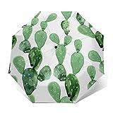 Compact Travel Umbrella - Windproof, Reinforced Canopy, Ergonomic Handle, Auto Open/Close Multiple Colors, Cactus Pattern