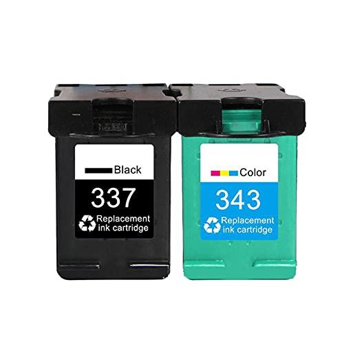AXAX Compatible para HP 343 337 Reemplazo del Cartucho de tóner para HP 5940 6940 6980 7110 K7100 2575 8750 C4180 D5160 Impresora, Office Electronics Products HD Impresió Suit