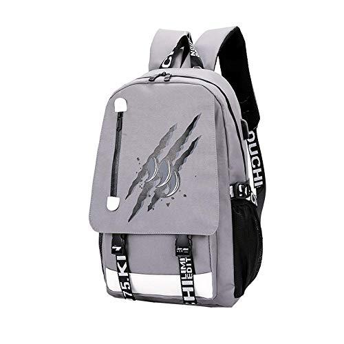 Waterproof Teenagers Student Gym Bags Senkey Style Cartoon USB Charge Backpack Anime Luminous School Bags Women Men Backpack