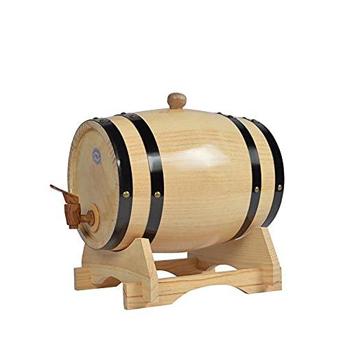 Juego de decantador de whisky de 5 litros con dispensador de barril de whisky de roble y barriles de envejecimiento para el hogar, licores de vino, cerveza y licor-A