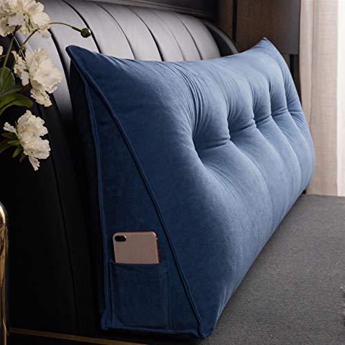 Lunga parte posteriore cuscino Supporto cuscino cuscino Lettura triangolare Bulster cuscini lombari per divano letto da letto letto in velluto a coste,A,150 * 50CM
