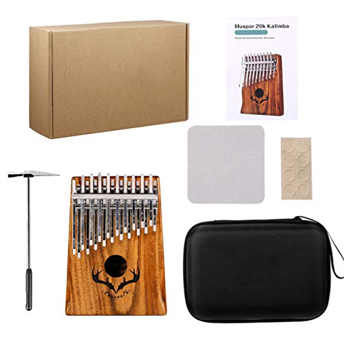 Yihaifu 20 Keys Kalimba Klavier Holz Piano Tuner HMER Stoß- Aufbewahrungskoffer Kit Musikinstrument