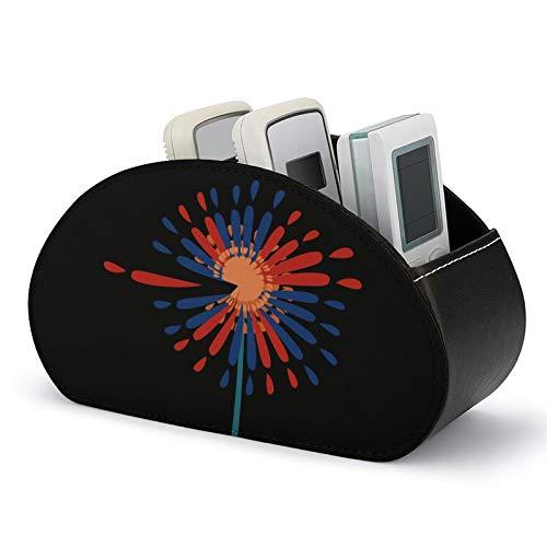 Caja de almacenamiento de cuero con puntos blancos negros para guardar TV, DVD, Blu-ray mando a distancia, Negro-estilo5 (Blanco) - 5