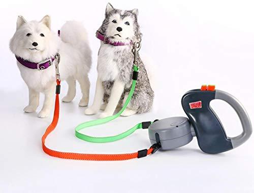 SMACO dual huisdier hondenriem retractable lopen lijn 3 m lengte ladder producten - honden Pet Products