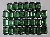 No.3588手芸用ビジュー パーツ アクリルビーズ ラインストーン 緑色 グリーン  0.8 1.2cm 30個入り