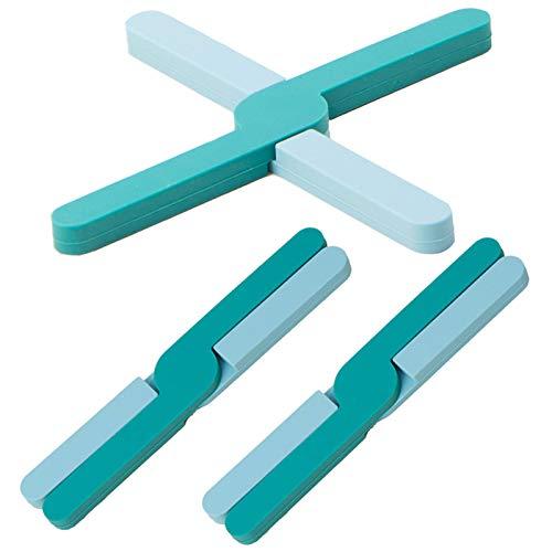 Posavasos de Silicona Plegable Salvamanteles de Silicona Antideslizantes Plegables Mantel Individual de...