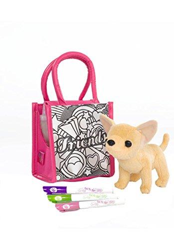 Simba 105895264 - Chi Chi Love Plüschhund 14 cm mit Tasche zum Bemalen