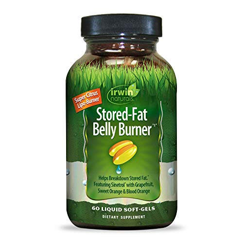 Irwin Naturals Stored-Fat Belly Burner with Sinetrol, Grapefruit, Sweet Orange & Blood Orange - Breakdown Stubborn Fat - 60 Liquid Softgels