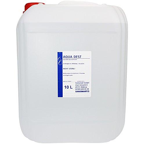 Aqua Dest Laborwasser destilliertes Wasser verschiedene Größen, Größen:10 L