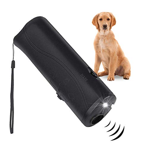 PetSole Anti Barking Device, Ultrasonic Dog Repeller & 3 in 1 Pet LED