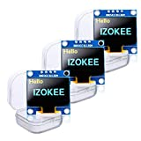 IZOKEE 0.96'' I2C IIC 12864 128X64 Pixel OLED LCD Display Shield Board Module SSD1306 Chip 4 Pin for Arduino for Raspberry Pi (Pack of 3pcs, Yellow-Blue-IIC)
