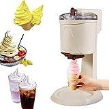 HYDDG Máquina de Helado de Fabricante de Helados Completamente automático Mini Fruta Máquina de Helado CREA un Yogurt Homemade Storbet Machine Postre Gelato Fácil de Usar para el hogar DIY Cocina