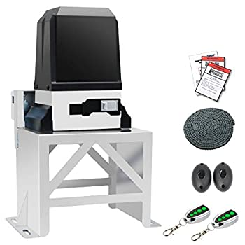 TOPENS CK2600 Automatic Sliding Gate Opener Kit Industrial Commercial 1-1/4 HP Chain Sliding Gate Motor for Large Slide Gates Up to 5700 Pounds and 40 Feet Driveway Security Slide Gate Operator