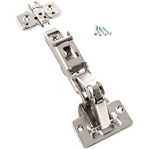 BLUM Clip top Weitwinkel-Scharnier | Möbelband; Eckanschlag, 2 Stück inkl. Montageplatten, Schrauben und Montageanleitung