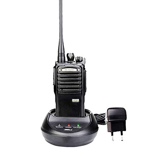 Retevis RT54 Walkie Talkie Digital DMR 5W IP66 Wasserdicht DTMF Amateurfunk Abnehmbarer Lautsprecher Kompatibel mit Mototrbo Tier I & II (Schwarz)