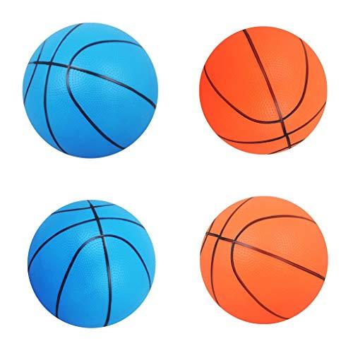 MagiDeal Pelota de Baloncesto Hinchable de 4 Piezas para Interior/Exterior, Juguete para Niños, Regalo