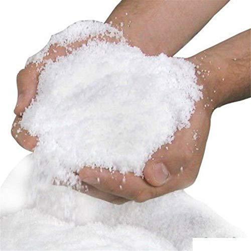 AMYGG Magic Instant Fake Fluffy Snow Super Absorbant Christmas Wedding Decor Artificial Expanded Snow Powder for Christmas Tree Wedding Decor 20 Pcs