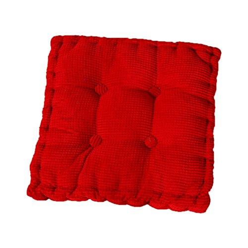 Cosanter Coussin Respirant élastique carré Coussin de Chaise Coussin de Siège Respirant Ventilé Tatami Idéal pour Bureau Intérieur Extérieur Meubles de Jardin Rouge B