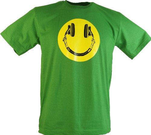 GURU SHOP Fun T-Shirt, Herren, Club Smiley, Baumwolle, Size:L, Rundhals Kurzarm Shirt Alternative Bekleidung
