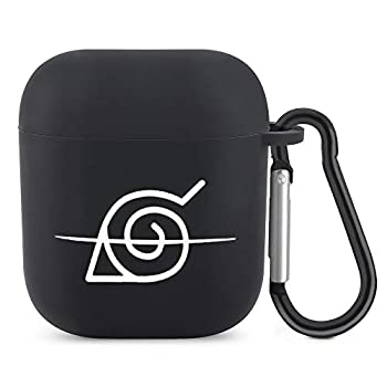 Airpods Case Cover with Keychain Full-Body Protective Naruto Scratch Proof TPU Skin Cover Compatible with Airpods 2 & 1,Support Wireless Charging