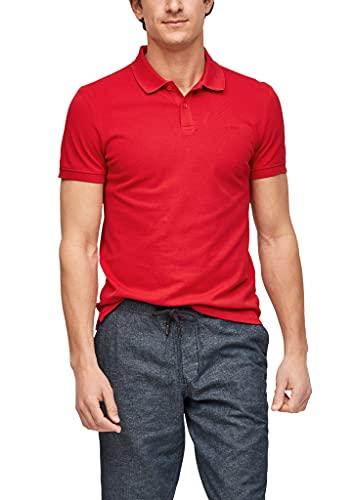 s.Oliver Herren Poloshirt aus Baumwollpiqué red L