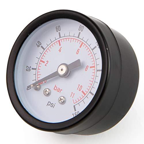 XtremepowerUS Universal Pool Filter Pressure Gauge Spa/Pool/Aquarium Water Pressure Gauge, 1.5' Dial, 0-160 Psi, Rear Mount 1/8'