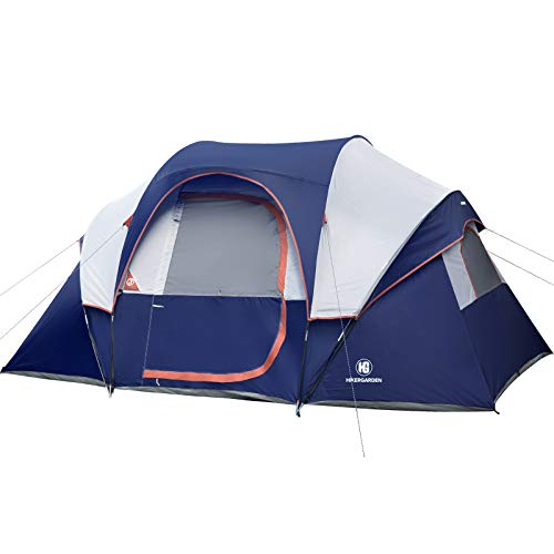 Camping Tent - HIKERGARDEN 2021 Upgraded 6/10 Person Tent for Camping, Waterproof Fabric, Family...