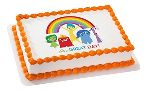Whimsical Practicality Inside Out It's a Great Day Edible Icing Image for Cakes 6' Round