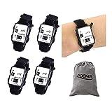Posma SC070 Portable Mini Wristband Golf Stroke Score Counter Keeper Watch Putt Shot Scorer 5pcs Value Pack with free Posma Flannel Gift Bag